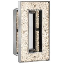 Elan Crushed Ice Rectangle Sconce - Cool White