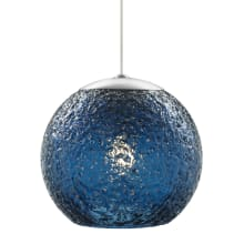LBL Lighting Mini Rock Candy G LED Steel Blue 6W Monopoint