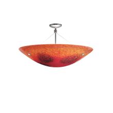 LBL Lighting Veneto Semi-Flush Red