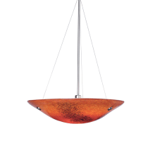 LBL Lighting Veneto Grande Pendant Red 26W