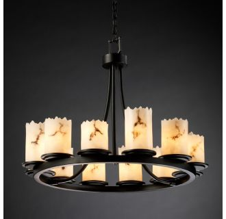Justice Design Group FAL-8768 Dakota 12 Light Short Ring Chandelier from the LumenAria Collection
