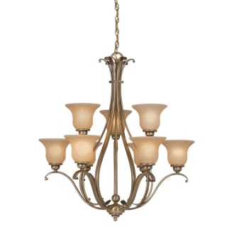Vaxcel Lighting CH35409 Tuscan Nine Light Up Lighting Two Tier Chandelier from the Monrovia Collection