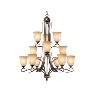 Vaxcel Lighting CH40112PZ Parisian Bronze Transitional Twelve Light Up Lighting Three Tier Chandelier from the Esprit Collection