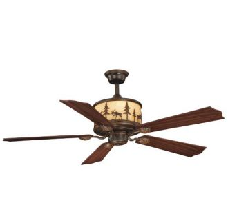 Vaxcel Lighting FN56305 Rustic / Country Five Blade Indoor Ceiling Fan from the Yellowstone Indoor Collection