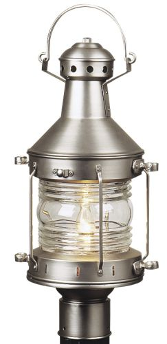 Craftmade Z115-28 Brushed Nickel Nautical Craftsman / Mission Single Light Up Lighting Large Outdoor Post Light from the Nautical Collection