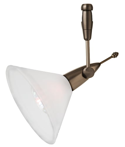 LBL Lighting HG214BU Blue Contemporary / Modern Single Light 360- Swivel Cone-Shaped Track Head for Single-Canopy Mounting or Track Lighting Systems