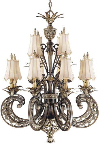 Metropolitan N6018 198 Ravello Bronze With Gold Jessica Mcclintock Home Renaissance Twelve Light Two Tier