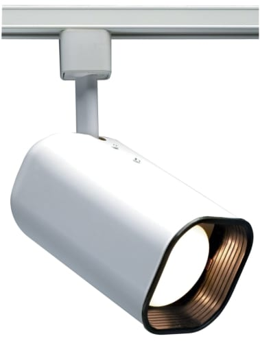 Nuvo Lighting TH212 White Track Lighting Single Light R20 Soft Square Track Head in White Finish