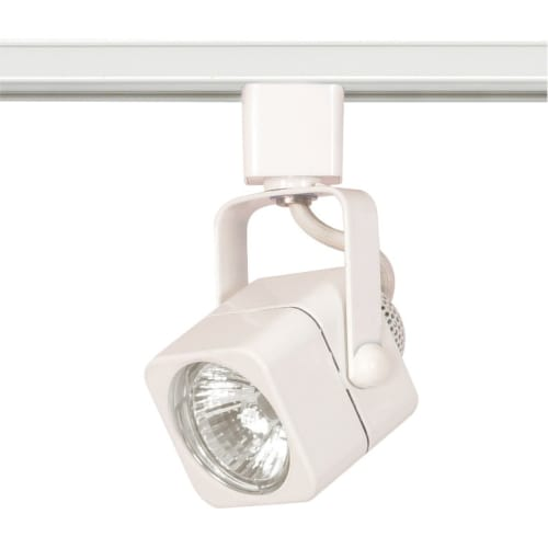 Nuvo Lighting TH312 White Track Lighting Single Light MR16 120V Square Track Head in White Finish