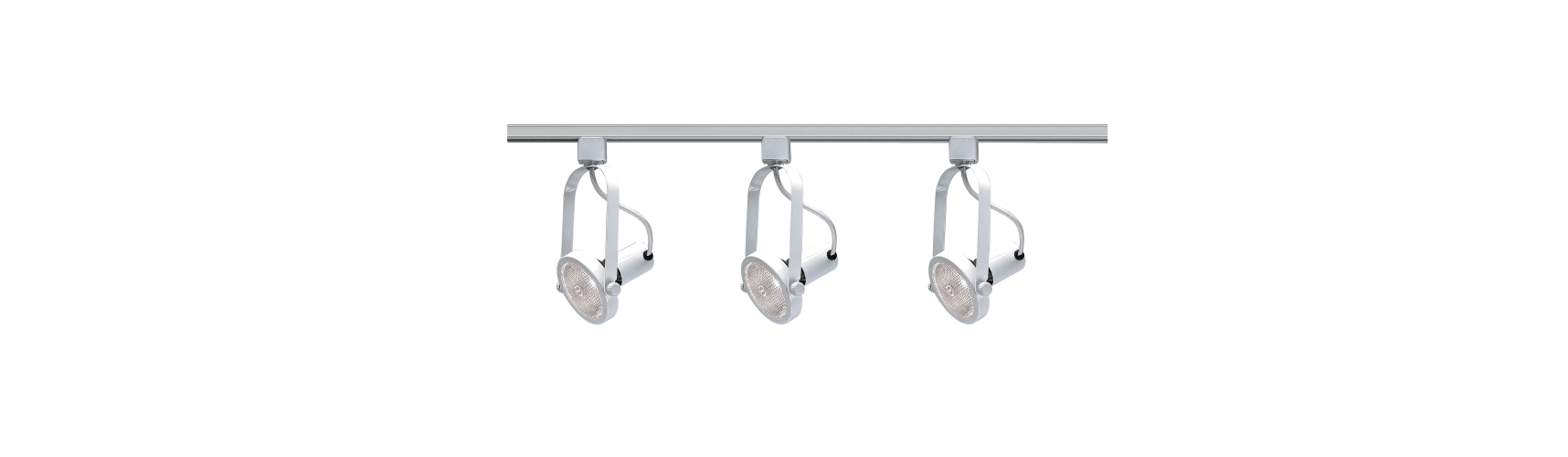 Nuvo Lighting TK316 White Track Lighting Three Light PAR30 Gimbal Ring Track Kit in White Finish