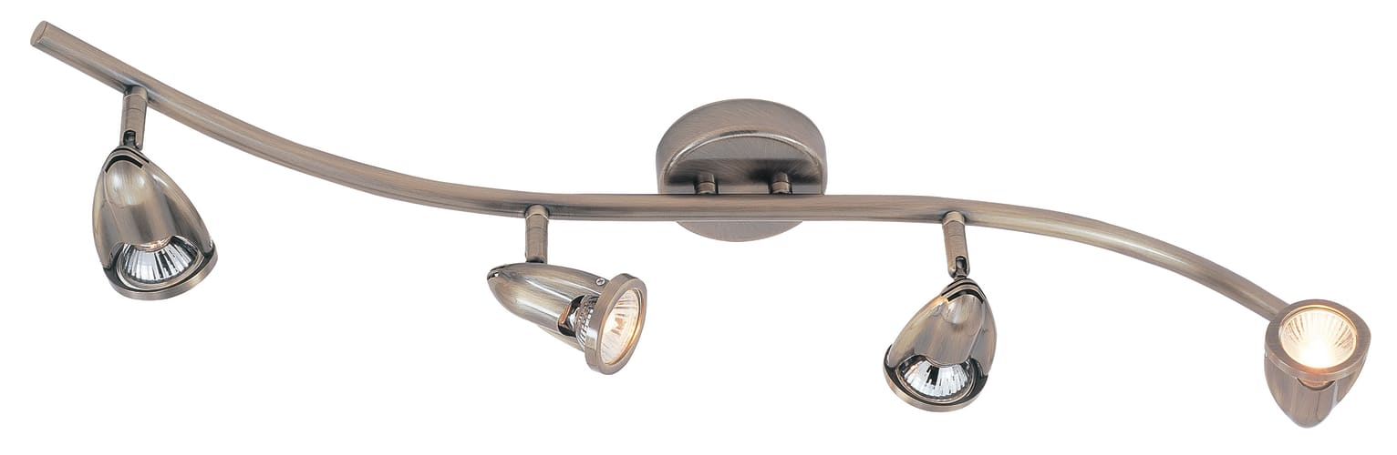 Trans Globe Lighting W-466 ORB Oil Rubbed Bronze Modern Track Contemporary / Modern Four Light Wave Track Light from the Modern Track Collection