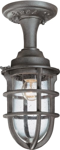 Troy Lighting C1863NR Nautical Rust Wilmington Traditional / Classic 60 W Incandescent Semi-Flush Ceiling Fixture from the Wilmington Series