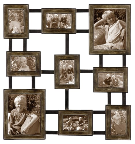 Uttermost 13541 Brown Wash Over Silver And Aged Black Grace Feyock Lucho Hanging Metal Photo Collage