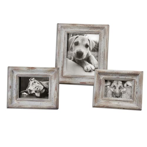 Uttermost 18565 Wood Niho Niho Picture Frames - Set of 3