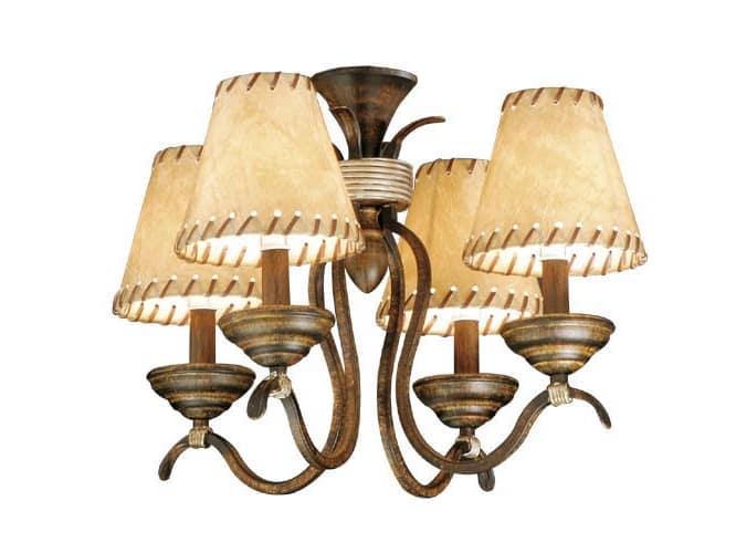 Vaxcel Lighting LK38354AW Aged Walnut Yellowstone Indoor Rustic / Country Four Light Up Lighting Fan Light Kit from the Yellowstone Indoor Collection