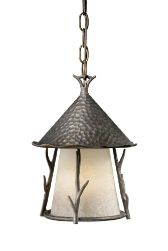 Vaxcel Lighting WD-ODD090AA Autumn Patina Woodland Rustic / Country Single Light Down Lighting Outdoor Pendant from the Woodland Collection