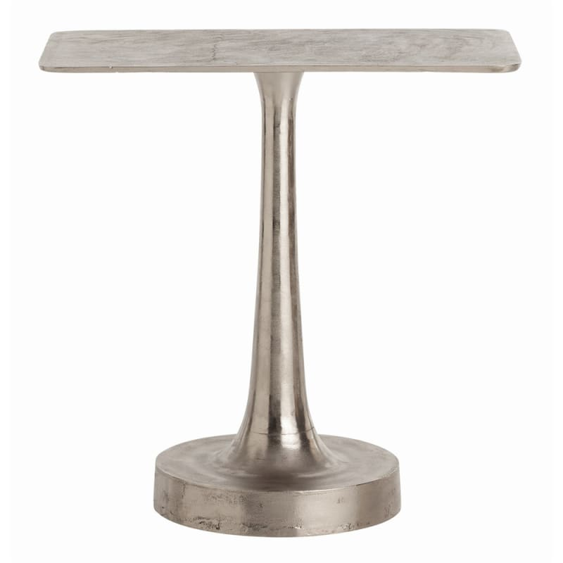 Arteriors 2021 Bellamy 28 Inch Long End Table Distressed Aluminum