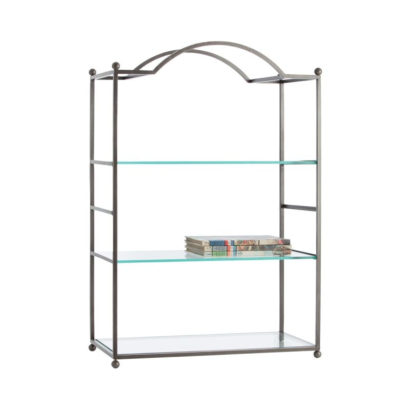 "Arteriors 2024 Shannon 36"" Tall Configurable Glass Shelving Unit"