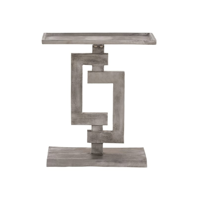 "Arteriors 2031 Barnett 18"" Wide Aluminum Top End Table Antiqued"