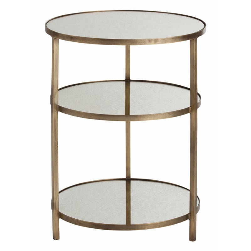 Arteriors 2028.2032 Percy 18.5 Inch Diameter Mirror Top Iron End Table