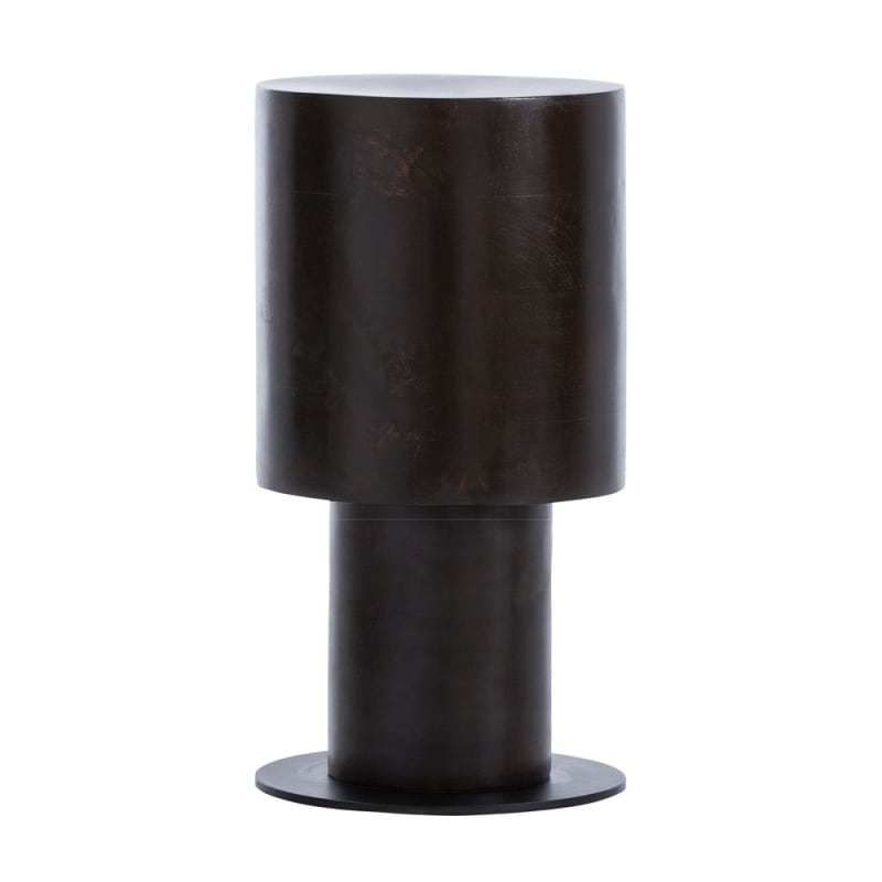 Arteriors 2036 Pippa 19 Inch Tall Wood Framed Stool Dark Walnut