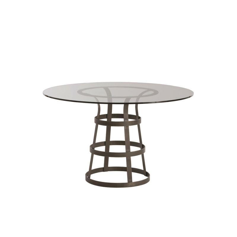 "Arteriors 2054-48 Salvador 48"" Diameter Glass Top End Table Natural"