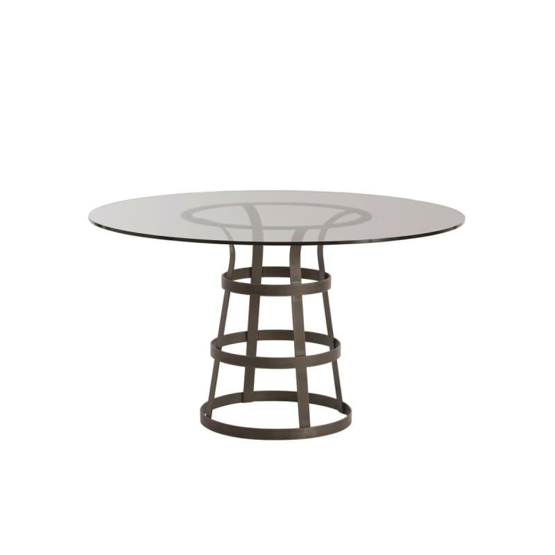 """Arteriors 2054-54 Salvador 54"""" Diameter Glass Top Dining Table Natural"""