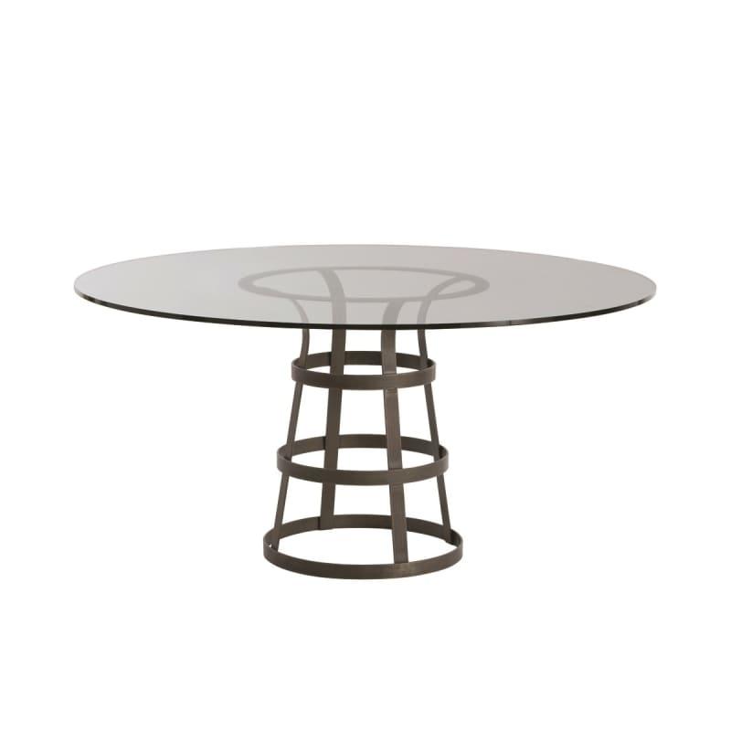 """Arteriors 2054-60 Salvador 60"""" Diameter Glass Top Dining Table Natural"""