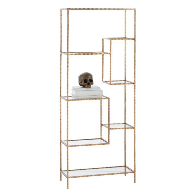 Arteriors 2089.2090 Worchester 61 Inch Tall Iron Etagere Gold Leaf