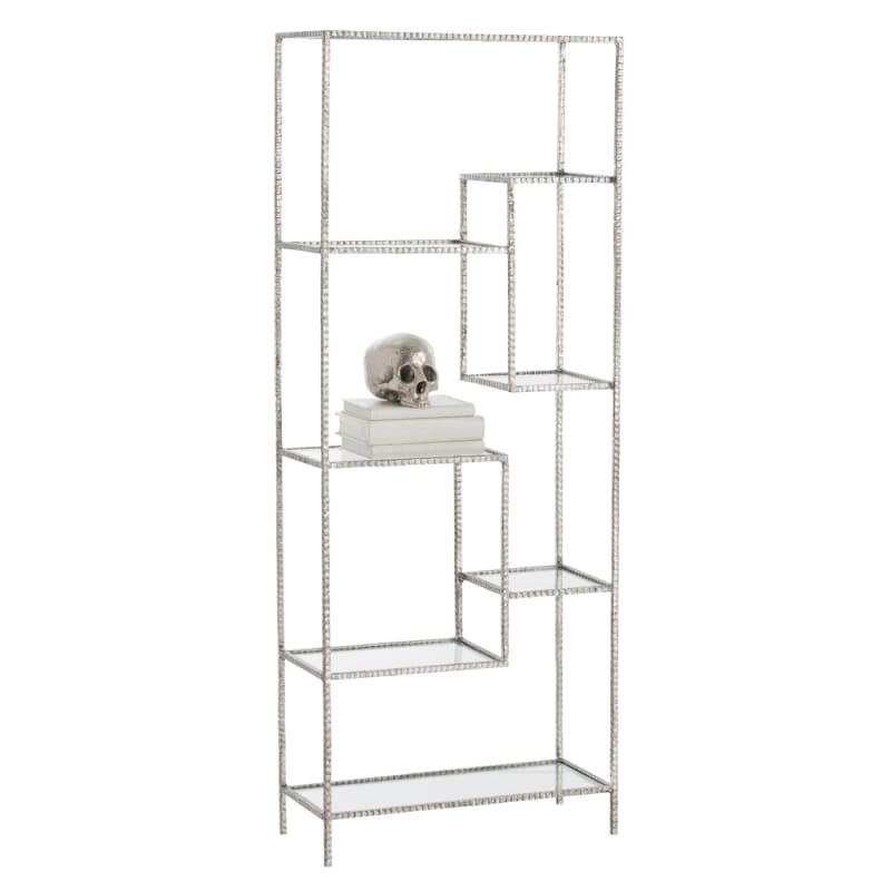 Arteriors 2089.2090 Worchester 61 Inch Tall Iron Etagere Silver Leaf
