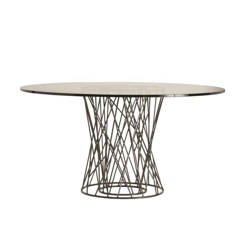 Arteriors 2098-60 Rawlins 60 Inch Diameter Glass Top Iron Dining Table
