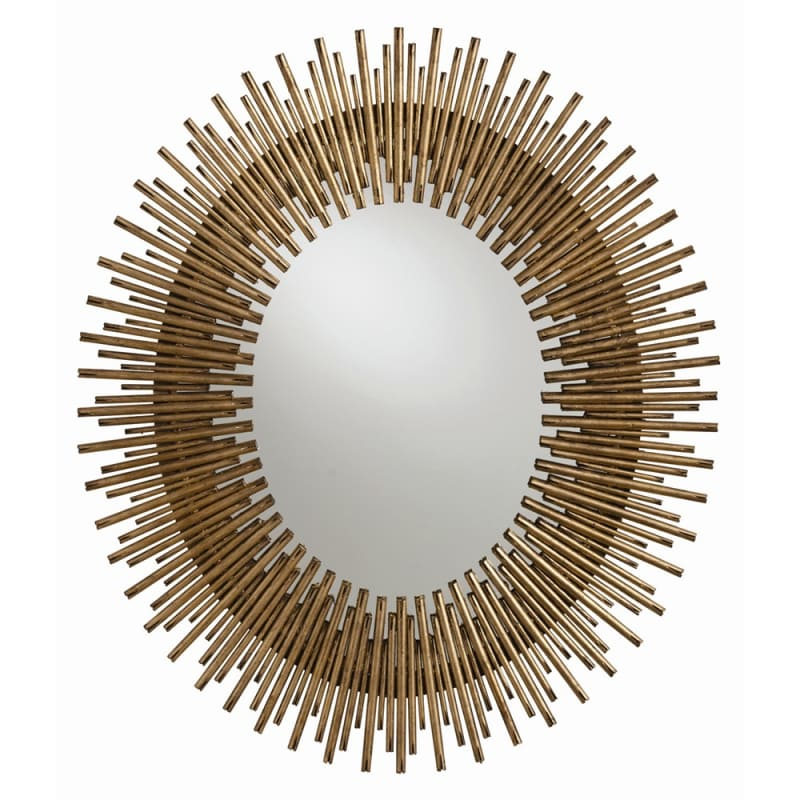 Arteriors 2143 Prescott 26 Inch Oval Iron Framed Mirror Antiqued Gold