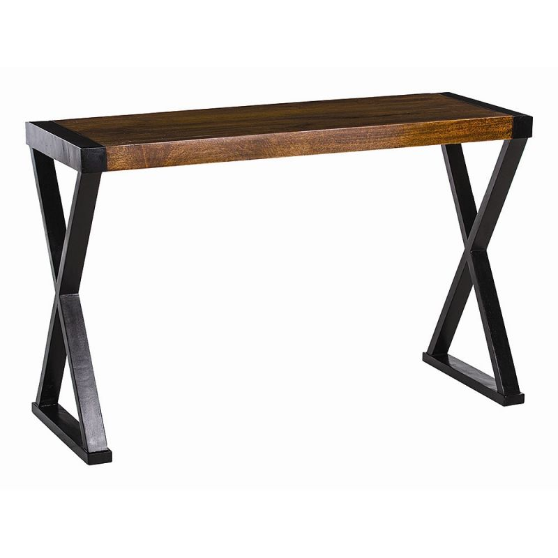 Arteriors 2230 Tahiti 47.5 Inch Long Wood Console Table Dark Walnut