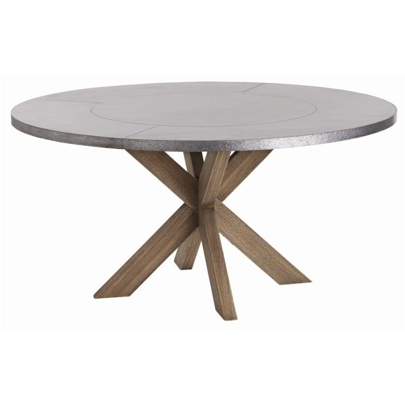 Arteriors 2415 Halton 60 Inch Diameter Iron Dining Table Galvanized