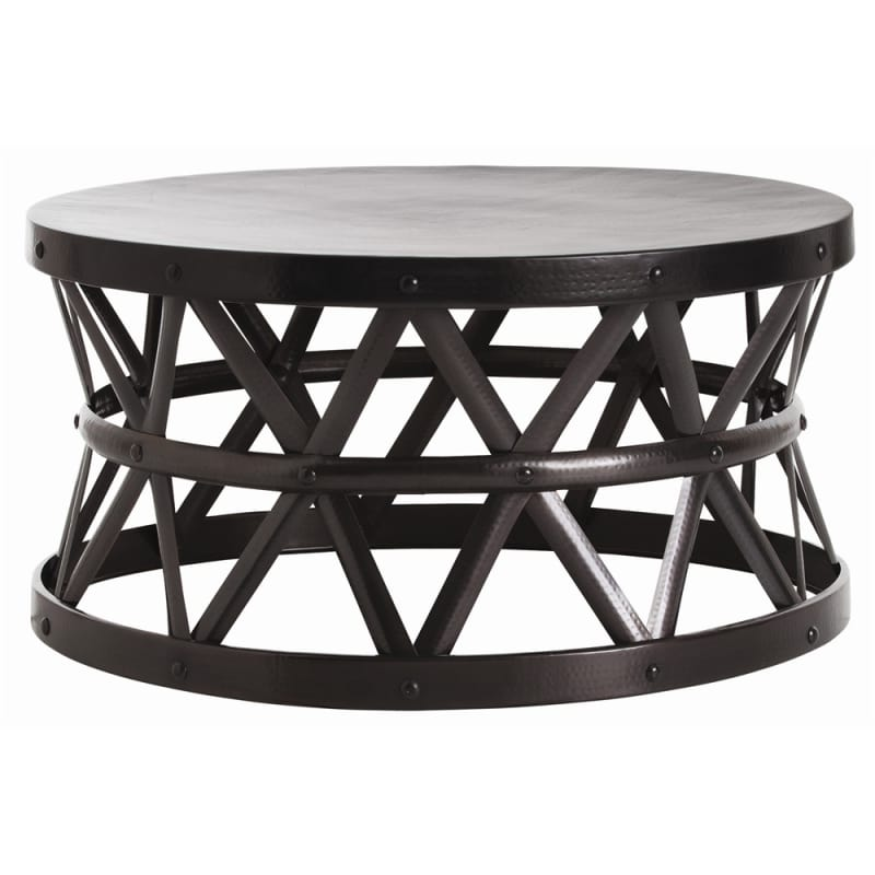 Arteriors 2420 Stanley 36 Inch Diameter Iron Coffee Table English