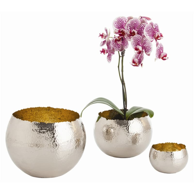 Arteriors 2476.2477 Alessandria 3 Piece Brass Container Set Polished
