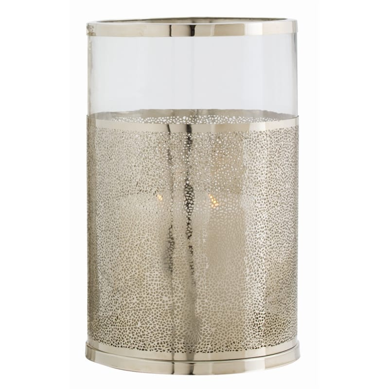 Arteriors 2497 Bombay 14.5 Inch Tall Steel Hurricane Candle Holder