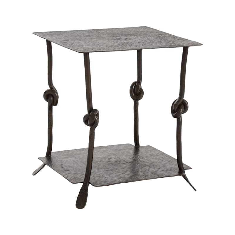 "Arteriors 2526 Arnot 24"" Wide Metal Top End Table Natural Iron"