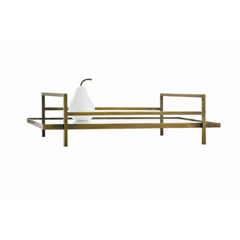 Arteriors 2072.2545 Charles 22 Inch Wide Tray Antique Brass Home Decor