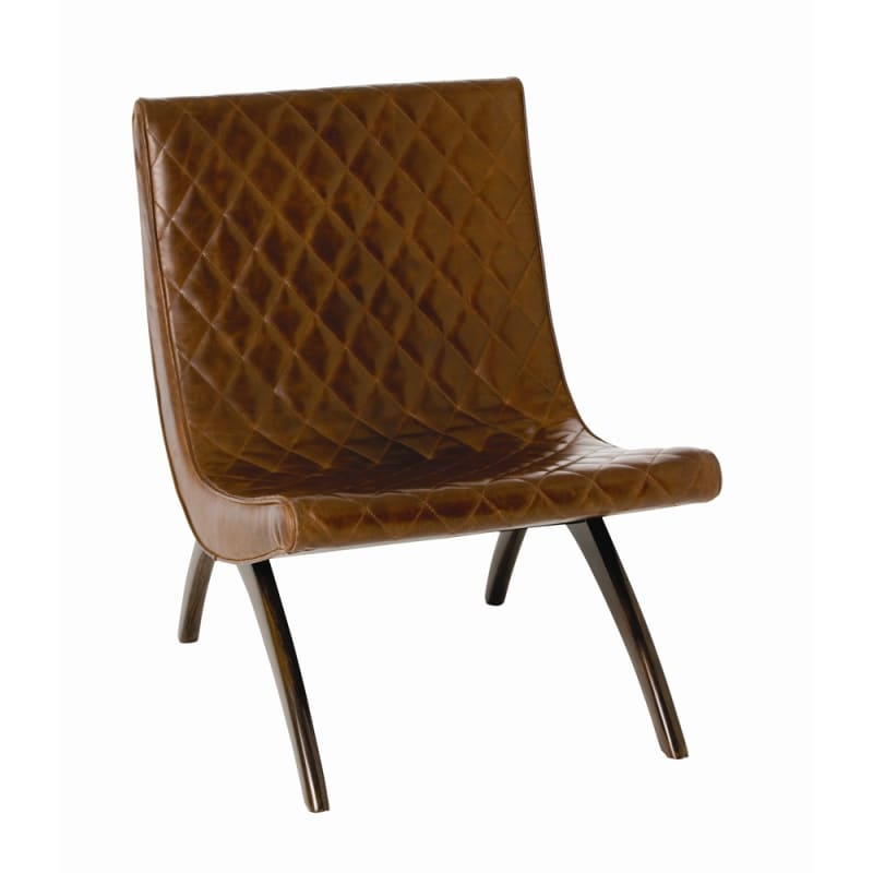 Arteriors 2596.6740 Danforth 31 Inch Tall Wood Framed Leather Chair