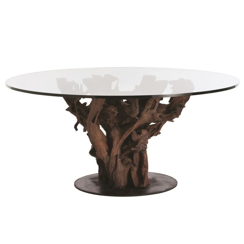 Arteriors 2606-66 Kazu 66 Inch Diameter Glass Top Dining Table