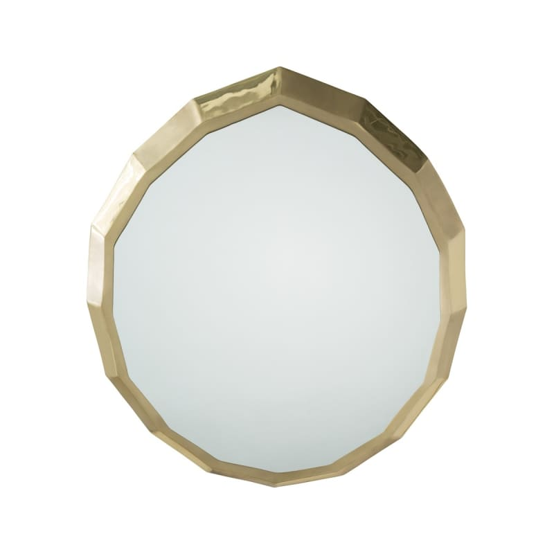 Arteriors 2610 Abigail 24 Inch x 22 Inch Oval Brass Framed Wall Mirror