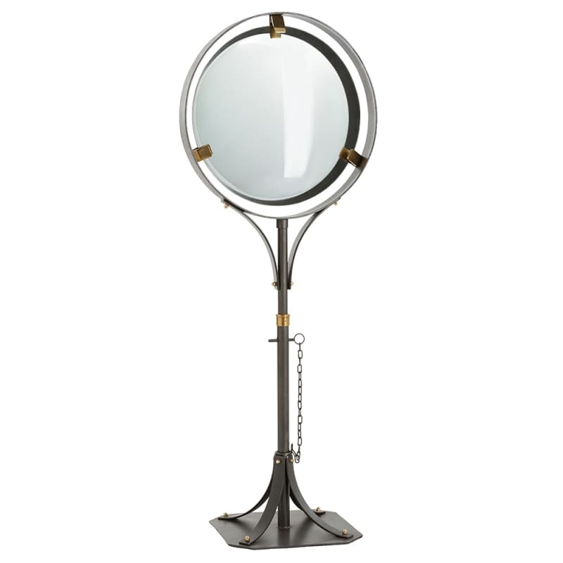 Arteriors 2639 Darcy 57.5 Inch Tall Floor Mirror Natural iron Home