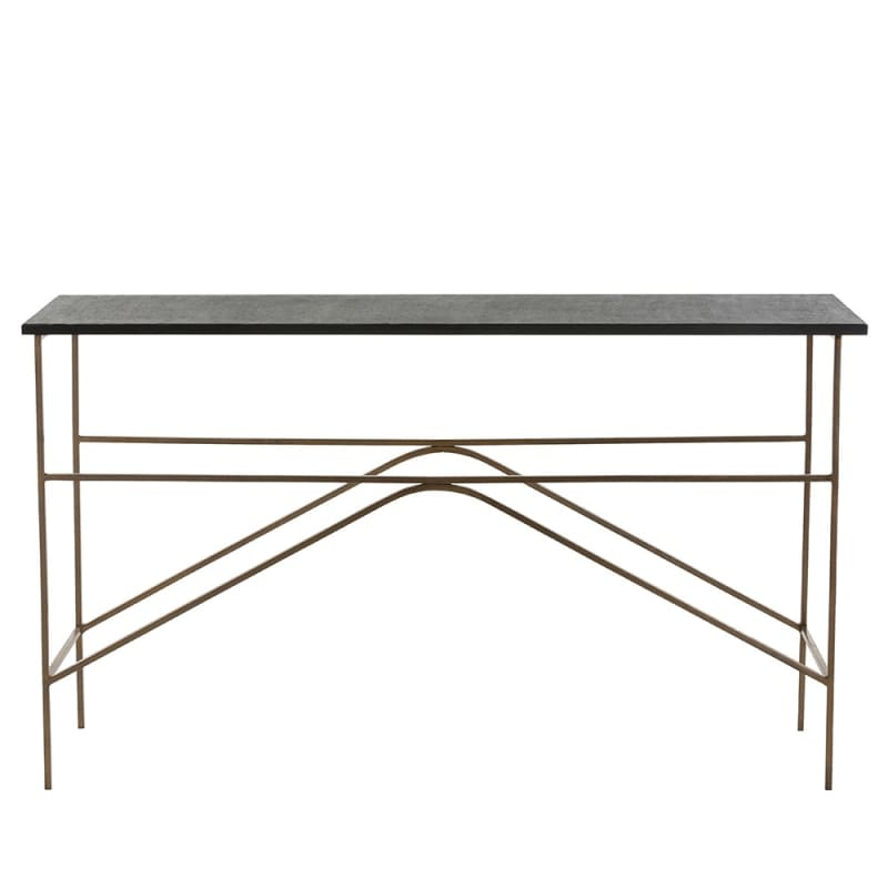 Arteriors 2653 Deacan 54 Inch Long Granite Top Iron Console Table
