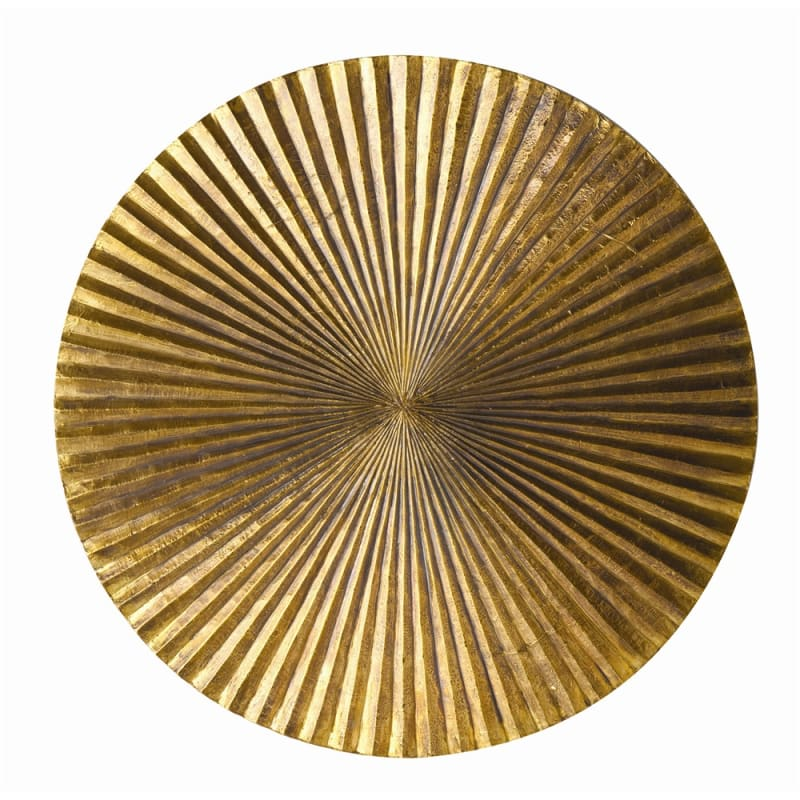 Arteriors 2520.2662 Apollo 18 Inch Wide Wall Plaque Antique Brass Home