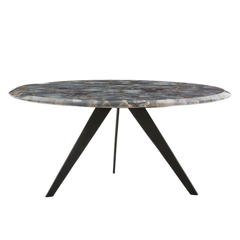 Arteriors 2689.2734 Essex 36 Inch Diameter Stone Top Coffee Table