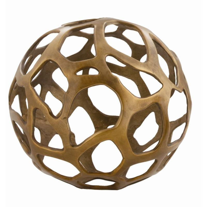 Arteriors 2694.2726 Ennis 13.5 Inch Wide Aluminum Sphere Antique Brass