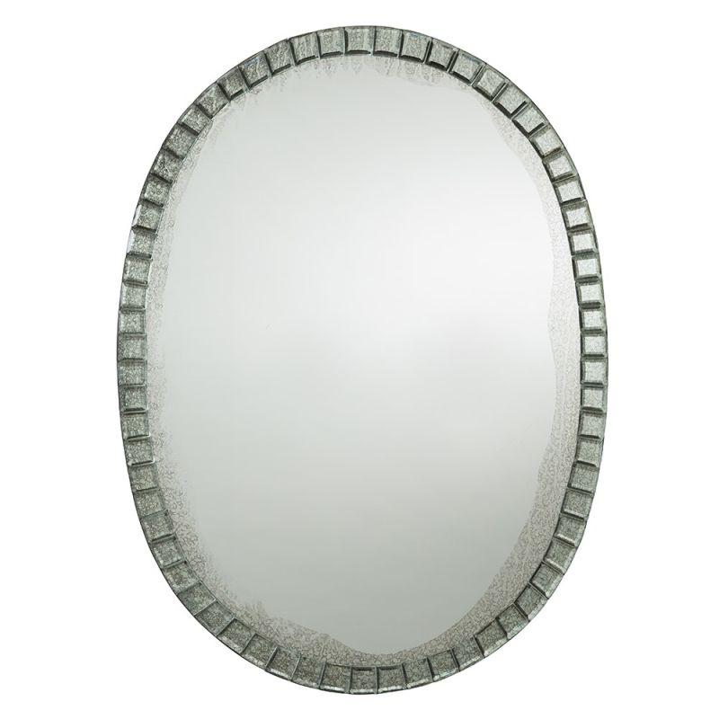 Arteriors 2696 Fiona 19.5 Inch Oval Glass Framed Mirror Plain Home