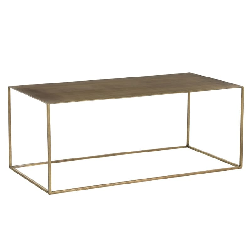 Arteriors 2710 Davis 40 Inch Long Metal Top Iron Coffee Table Antique