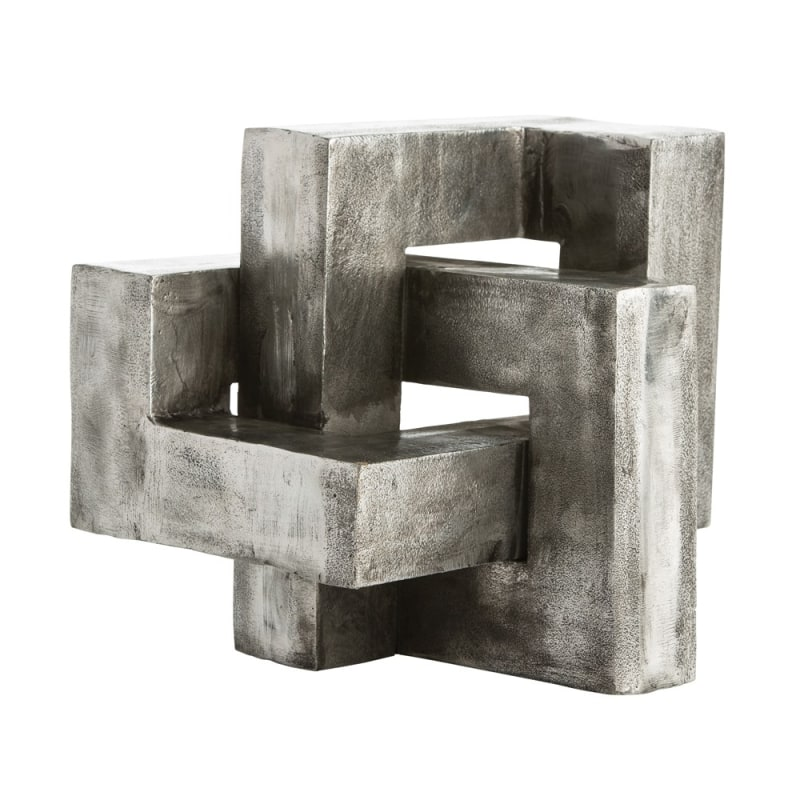 Arteriors 2852 Nyla 11 Inch Tall Sculpture Antiqued Aluminum Home